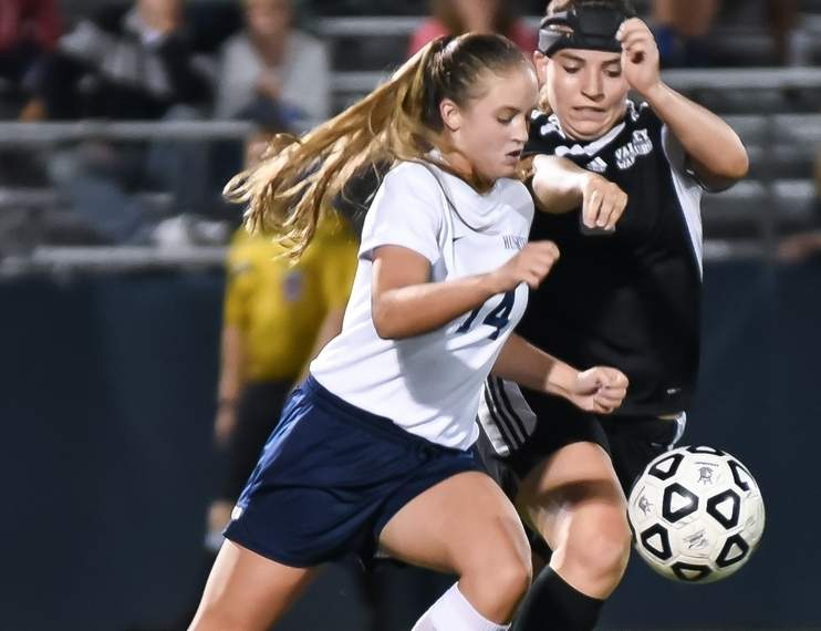 Senior co-captain Shannon Maher was a Second Team All-Shoreline honoree in 2015 and she and her teammates on the Morgan girls' soccer squad haven't skipped a beat thus far this fall. Photo by Kelley Fryer/Harbor News